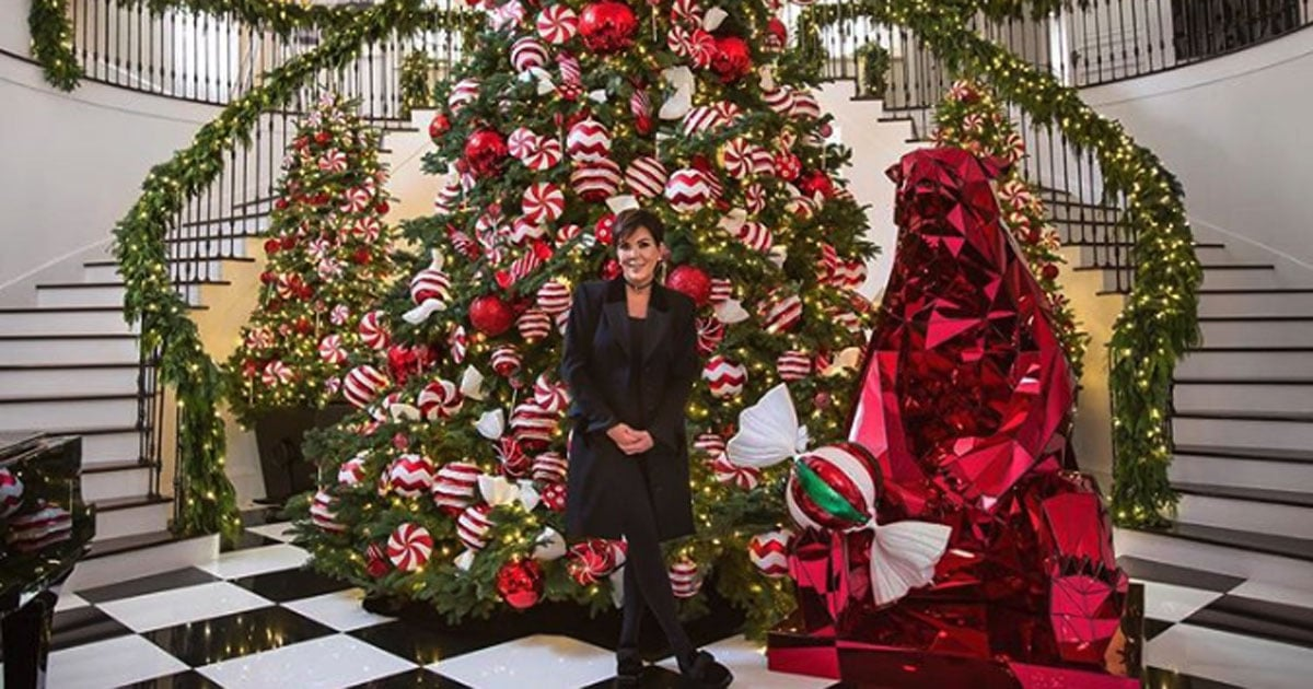 photos of kris jenner s lavish christmas decorations popsugar home lavish christmas decorations