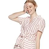 POPSUGAR Knot-Front Button-Down Shirt
