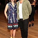 Erin Beatty and Max Osterweis at Stefano Tonchi and Vionnet's Art Basel party.