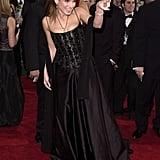 Sandra Bullock got playful on the red carpet in 2001.