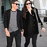 Liv Tyler and fiancé David Gardner touched down in Marrakech on Friday.