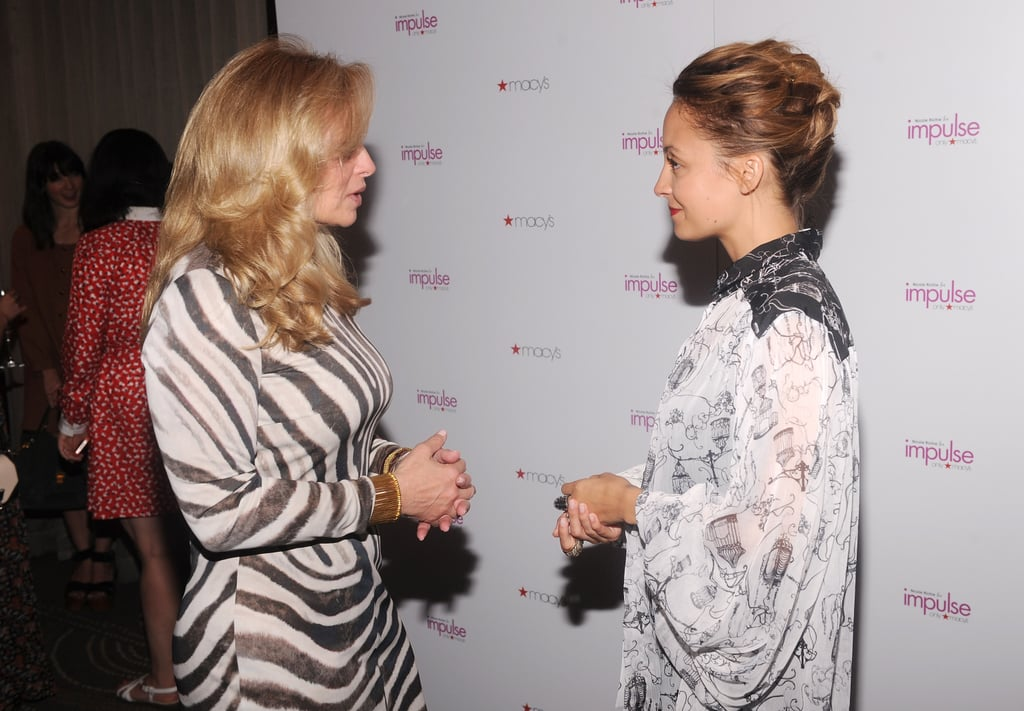 Nicole Richie and Martine Reardon took a candid shot.