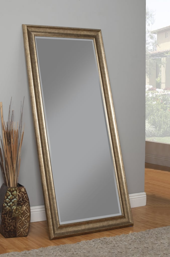 Floor length mirrors black wood framed mirror full size for Full length mirror black frame
