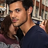 Taylor Lautner made a public appearance for Abduction in London.