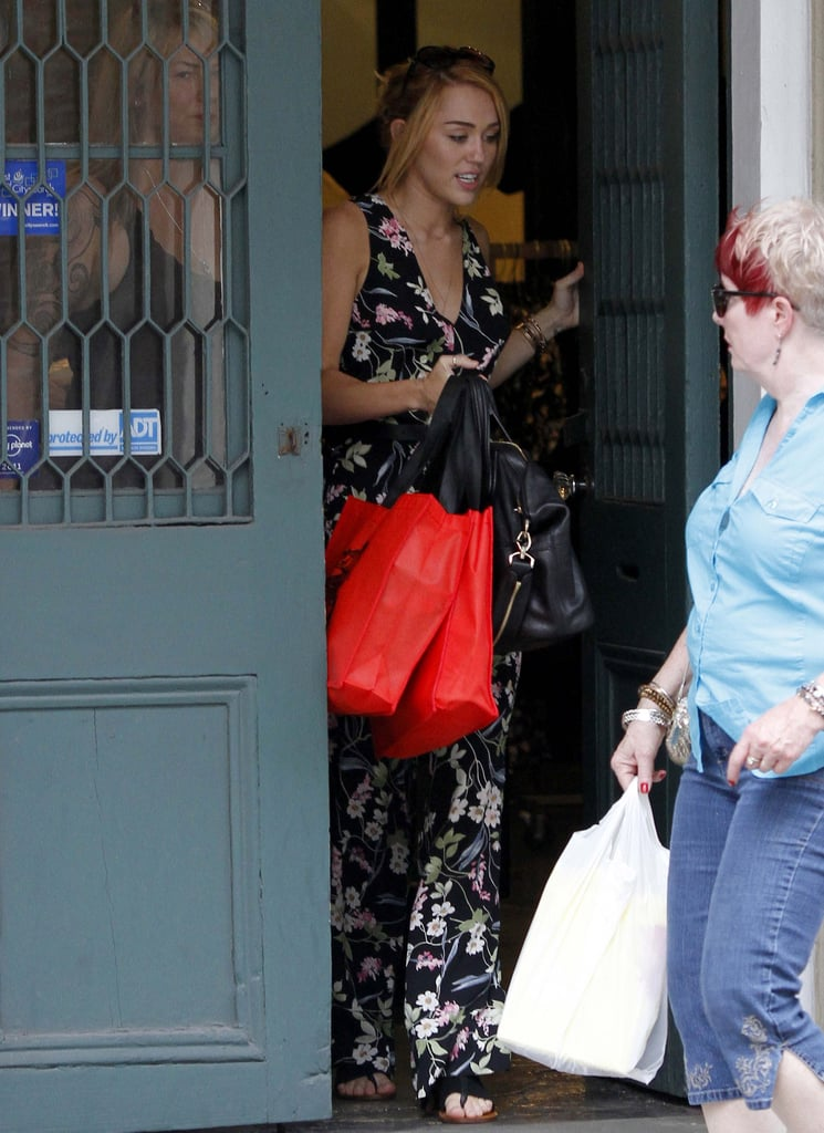 Miley Cyrus Reunites With Liam and Hits the Shops in NOLA