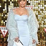 Jennifer Lopez's Blue Corset Dress