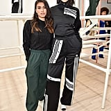 Kendall attended the Adidas presentation, celebrating designer Danielle Cathari's designs and promoting her ambassadorship. She completed her Adidas separates with white Gianvito Rossi mules.