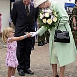 When This Little Girl Just Couldn't Wait to Present Her Gift to the Queen