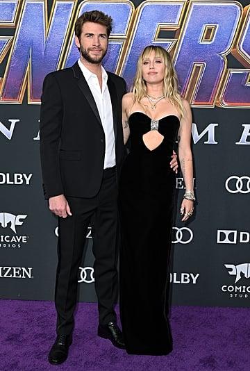 Miley Cyrus Wears Black Dress at Avengers Endgame Premiere