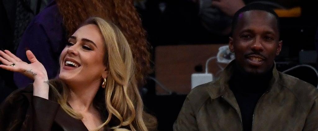 Adele Wears a Louis Vuitton Coat to the NBA Season Opener