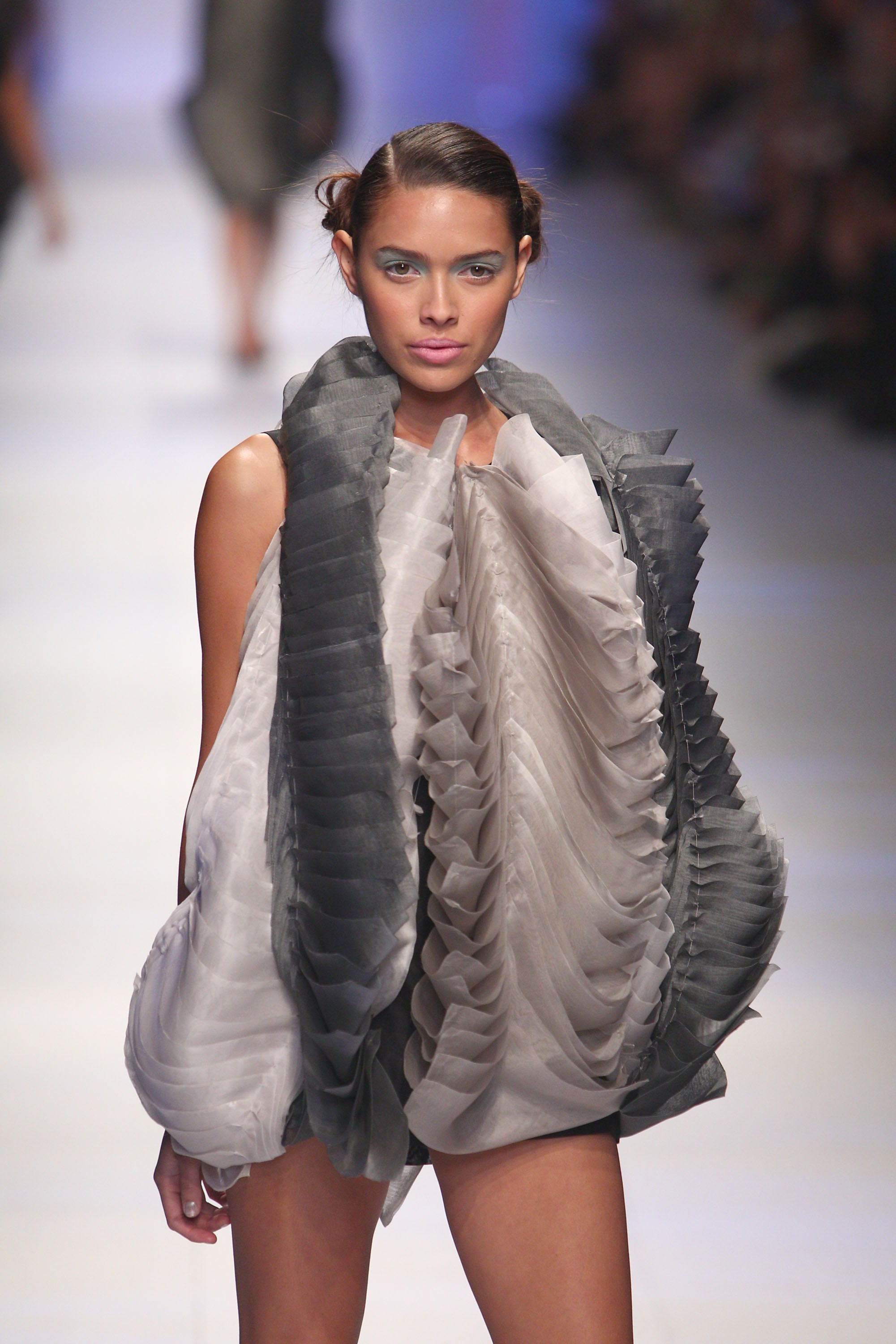 Texutre was the order of the day at Sarah Mok's Graduate LMFF show.