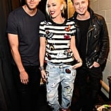 Calvin Harris, Gwen Stefani, and Ryan Tedder had fun at the Jingle Ball.