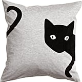 H&M Jersey Cushion Cover — Light Gray/Cat ($13)