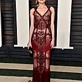 For the 2016 Oscars, Diane made quite the statement in a sheer Reem Acra look.