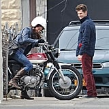 Andrew Garfield and Shailene Woodley got to work on The Amazing Spider-Man 2 in NYC on Tuesday.