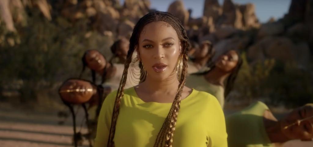 "Beyoncé's Lip Gloss and Highlighter in ""Spirit"" Music Video"