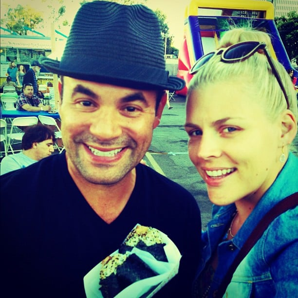 Busy Philipps ran into her Cougar Town co-star and shared this photo from the Hester Street Fair in Hollywood. Source: Instagram user busyphilipps