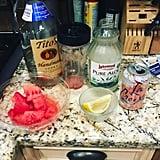 Passion Fruit LaCroix+ Vodka + Watermelon Cubes + Lemon