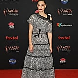 Phoebe Tonkin's Red Smokey Eye Makeup at the AACTA Awards