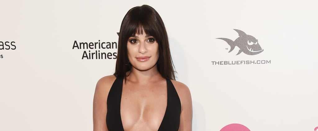 "Lea Michele's Afterparty Dress Will Have You Wondering, ""How Low Can It Go?"""