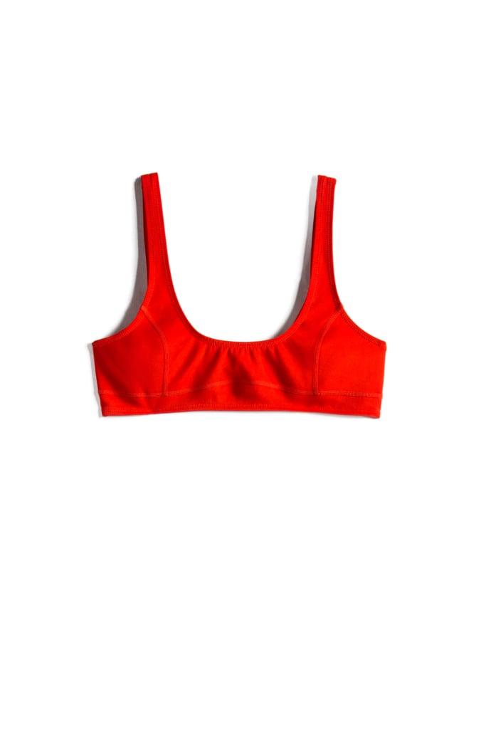 Bright Red '90s Low-Scoop Bralette