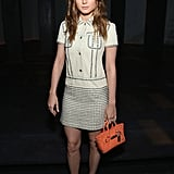 In the ultimate fashion-girl move, Brie attended the Coach presentation during NYFW in a dress by the popular fashion house.