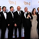 Pictures of Golden Globes Winners in Press Room Including Colin Firth, Christian Bale, Claire Danes, Robert De Niro
