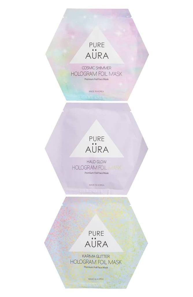 Pure Aura Hologram Foil Mask Trio