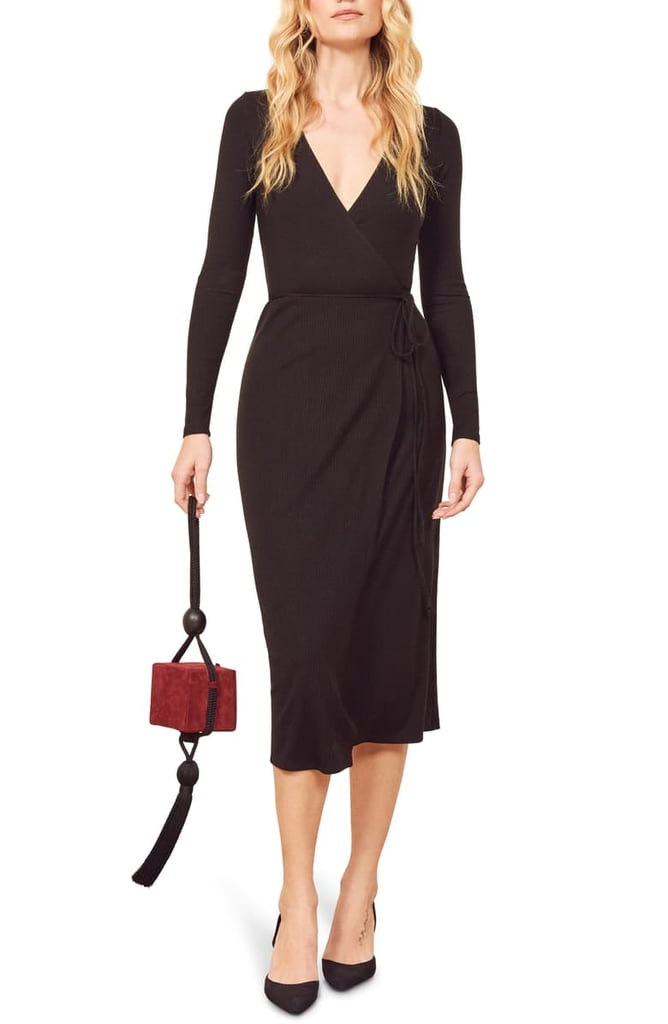 Reformation Celine Wrap Sweater Dress