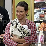 See New Mom Evangeline Lilly With Her Infant Son!