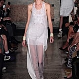 Sheer trousers at Emilio Pucci in Milan.