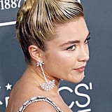 Florence Pugh's Swirly Updo at the 2020 Critics' Choice Awards