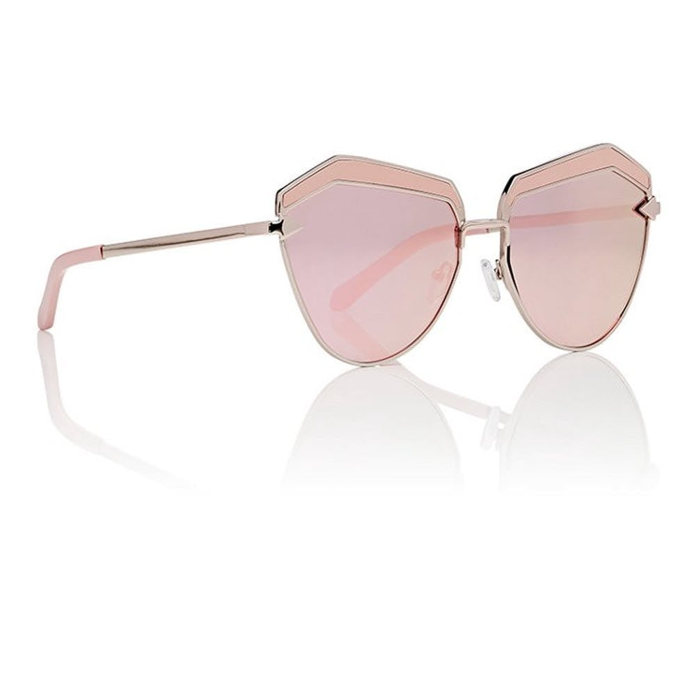These days there's no such thing as too much pink and these tonal Karen Walker Jacinto Sunglasses ($315) are proof positive of that.