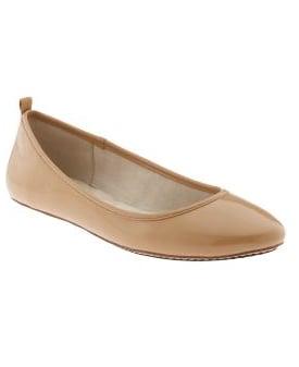 Patent Ballet Skimmers $45, Gap