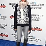 Zoe Saldana stepped out for the Infinitely Polar Bear premiere on Sunday.