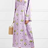 Bernadette Sarah Floral-Print Stretch-Silk Satin Dress
