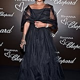 Rihanna dressed up in Chopard diamonds for her dinner with the brand in celebration of their collaboration in May 2017.