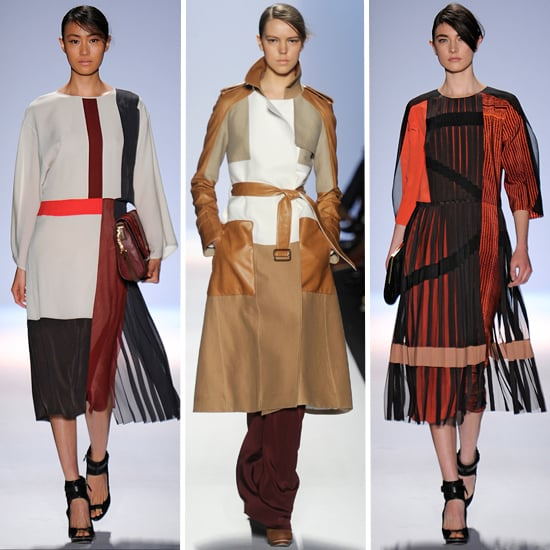 Runway Review and Pictures of BCBG 2012 Fall New York Fashion Week Catwalk Show: Cool Colour Combos, Sheer, Pleats and more!