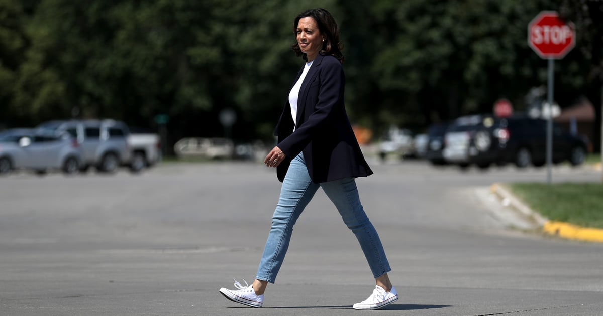 """Kamala Harris Explains Why You Always See Her Wearing Converse Sneakers: """"My Casual Go-To"""""""