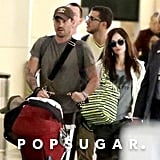 Megan Fox and Brian Austin Green popped up at JFK after announcing their baby news.