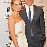 Emily Blunt and husband John Krasinski smiled in NYC.