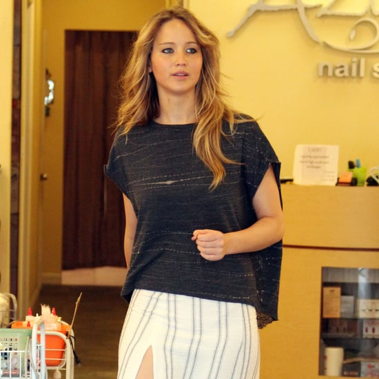 Jennifer Lawrence Gets Manicure in LA Pictures