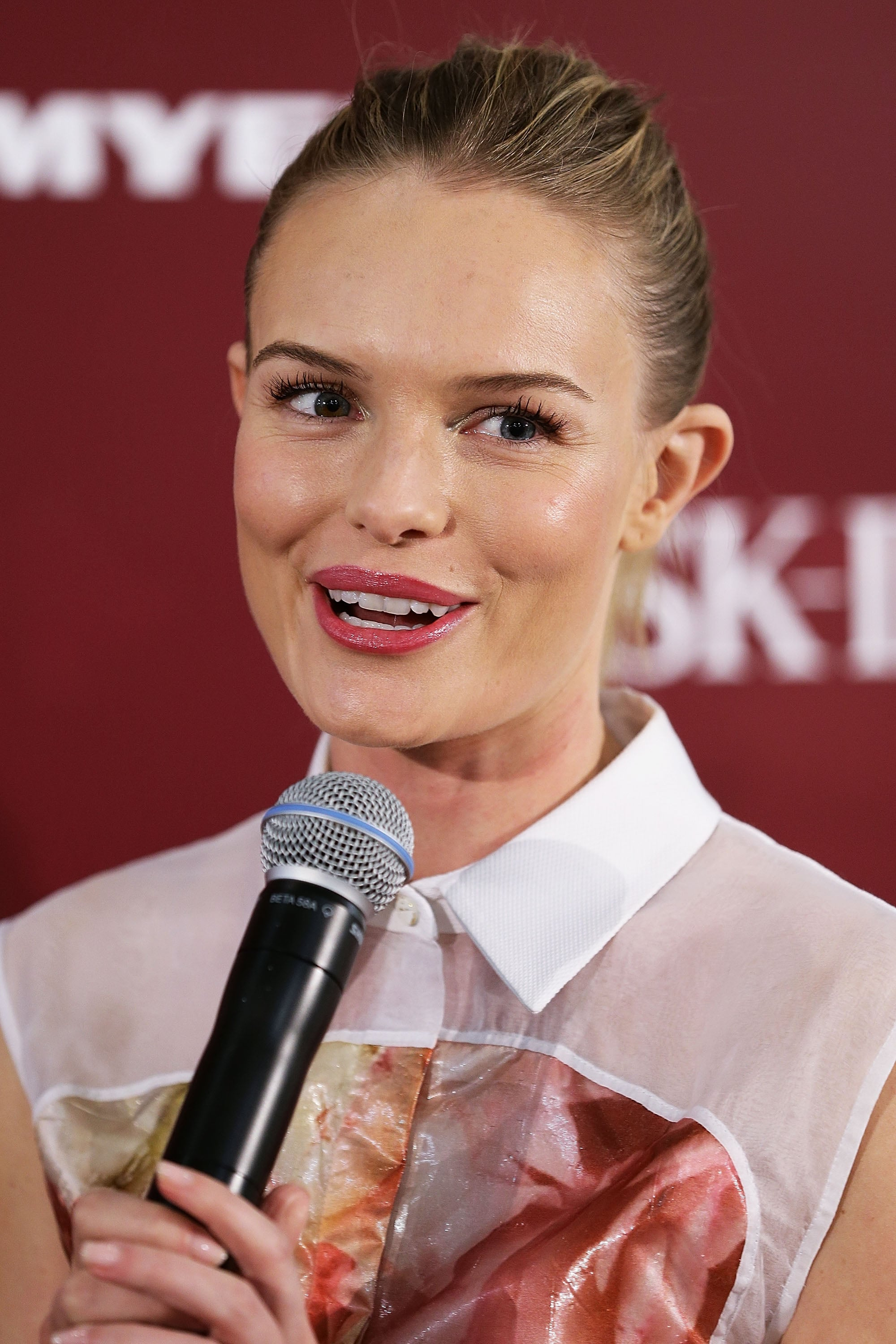 Kate Bosworth spoke at Myer Sydney City for an event for her skin care line SK-II.