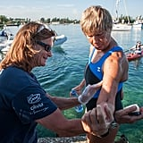 Diana Nyad prepared for the three-day swim on the shores of Havana.