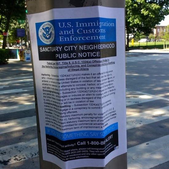 Fake ICE Posters in Washington DC