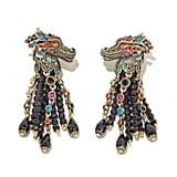 Heidi Daus That Something Special Crystal Tassel Drop Earrings ($160)