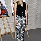 The always-chic Diane Kruger showed off a pair of Stella McCartney printed trousers at the Berlin photocall for her new film, Der Naechste, Bitte!