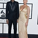 Wiz Khalifa and Amber Rose at the 2014 Grammy Awards.