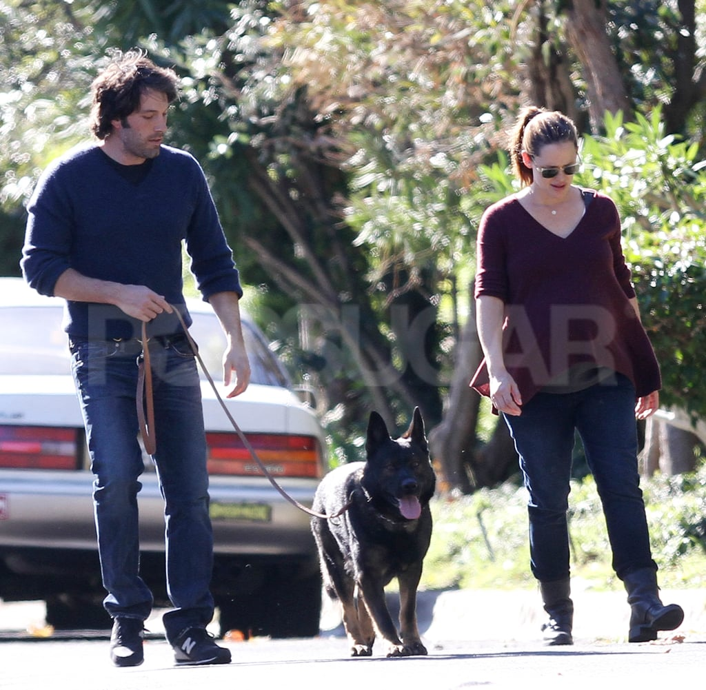 Ben Affleck and Jennifer Garner were out for a New Year's stroll.