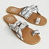 Missguided Snake Sandals